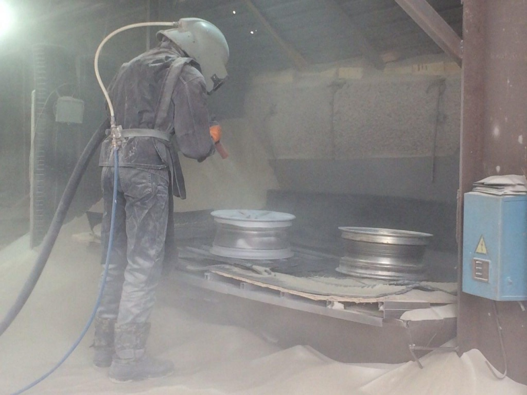 Пескоструйная обработка дисков в Москве