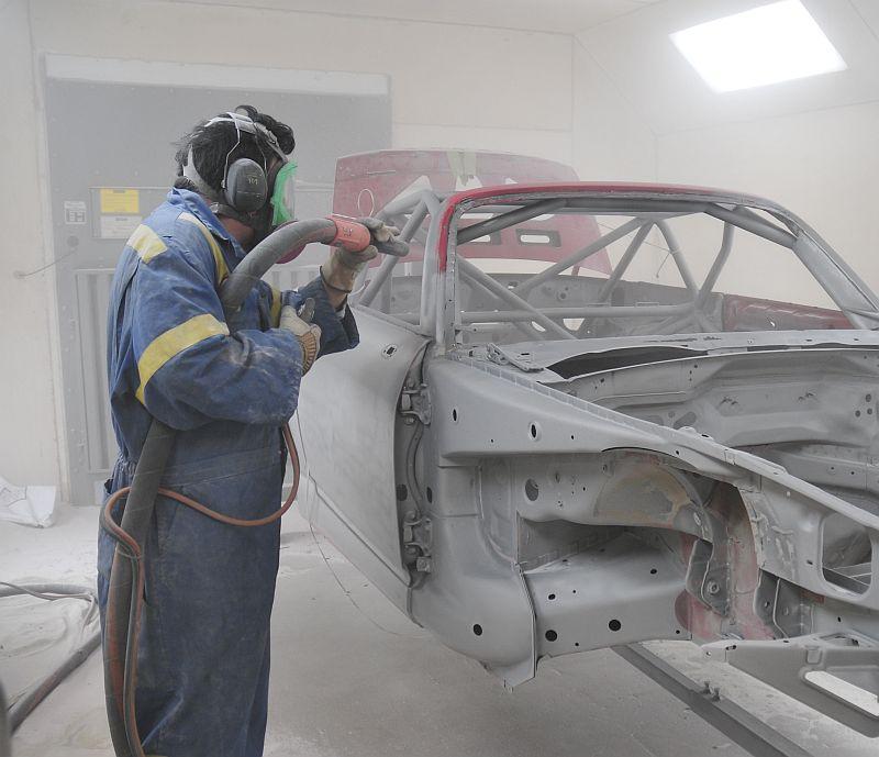 Пескоструйная обработка каркаса автомобиля в Москве